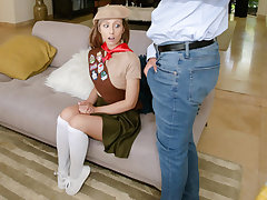Daphne Dare in Laconic And Sexy Sales Pitch - ExxxtraSmall