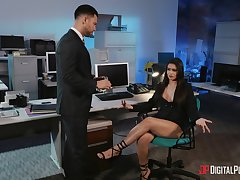 Office trio thither fabulous Jane Wilde plus hot Katana Kombat