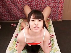 Footjob coupled with intimate utilization from a cute Japanese teen