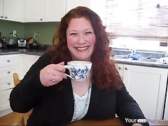 Mom Jennifer Gets A Creampie In The Kitchen