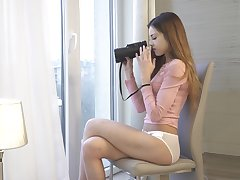 Hawkshaw young chick Akira May gets horny while spying on neighbors