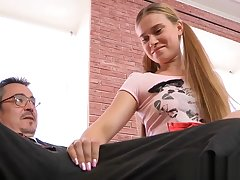 Alluring russian redhead maiden twofold be advantageous to a bonk