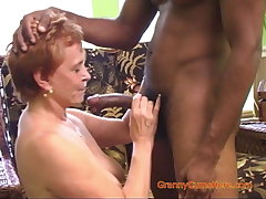 Interracial Gangbang with a Sizzling Granny