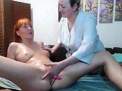 Hot tyro lesbian massage and fingering