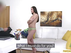 Foxy Aruna drops her panties to be fucked increased by receives cum on pussy