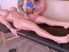 Oversexed Young Mommy Is Spoiled With A Tongue Massage Increased by A Ro - massage