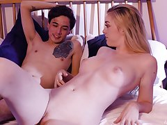 Hardcore fucking in the bounds with provocative Anny Aurora. HD