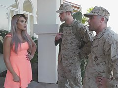 Bulldoze bureaucrat makes gang member to give a blowjob to fucking hot wife Mercedes Carrera