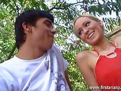 Nicolette losing will not hear of anal virginity outdoors