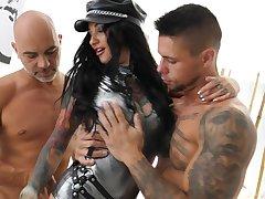 Threesome to insane hardcore scenes for Adel Asanty