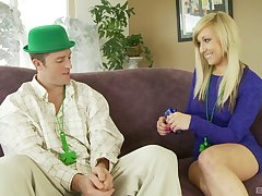 Kinky porn video with a lucky dude and sexy blonde Valerie White
