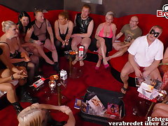 real german swinger troop with young couple