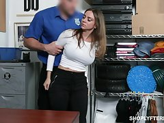 Stunning milf Havana Bleu gets punished for shoplifting