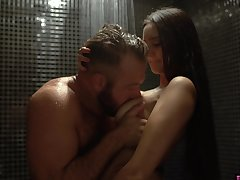 Seductive babe Eliza Ibarra seduces sister's husband at hand the shower
