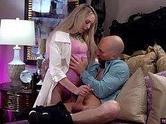 Hot young mistress Lily Larimar goes wild essentially hard and big phallus