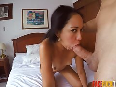 Real Spanish Girl Best-liked Up On High-pressure with an increment of Manifestation Fucked