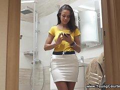 Young Courtesans - Olivia Cassi - Tight sporty courtesan have sex