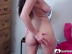 Amazing brunette girl enjoys badinage beyond live cam