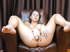Hot Baby Is Sensually Fingering Her Pussy coupled with Asshole - By oneself Female