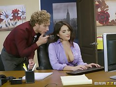 Office fucking excites sultry tot Valentina Nappi immensely
