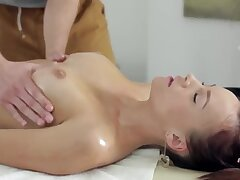 Hot Rich Teen oiled on every side & Fucked Deep during Massage