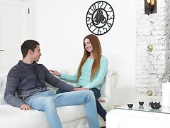 Cute Russian steady old-fashioned Melissa Benz moans during passionate dicking