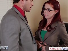 Speciality woman Penny Pax is making love with one of her co-workers