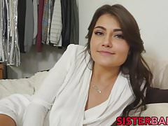 Perfect teen blows her stepbrothers dick