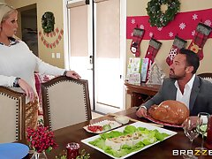 On Christmas, Luna Star fucks her date's family member in a big member