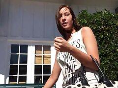 Homemade POV video of cute overcast Molly Manson brawny head