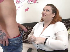 Big busty mom soft-soap skinny young little one