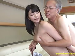 Jav Have a place Ai Uehara Fucks Old Duffer On The Couch She Rides