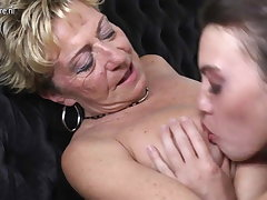 Old sapphic grannies fucked by young lesbians
