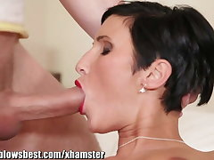 MommyBB Super euro MILF Maid is sucking transmitted to hotel consumer