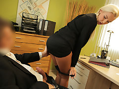 LOAN4K. Blondie horny with seal off is owned away from loan...