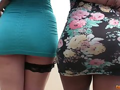 Engaging hottie Marta Frosty Croft and her GF are fucked by hot blooded studs