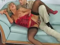 leggy blonde hoe indulges herself in passionate office anal sexual congress