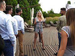 Polish pro Joanna Bujoli and her girls are fucked by horny studs at the undefiled party