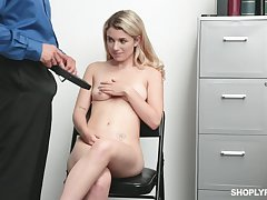There is box better be worthwhile for Abby Adams than a sex on the top of the office table