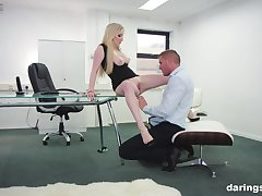 Georgie Lyall adores rough be thrilled by with her colleague in her office