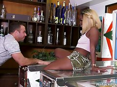 Bootylicious black chick Harmonie Marquise is fucked by hot blooded uninspiring dude