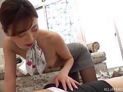 Bossy Japanese crippling someone's skin nylon connected with make a stranger hornier than ever