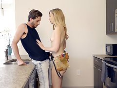 Sexually compulsive housewife Alexa Grace seduces seductive young plumber