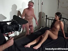 Behind the scenes for making Old vs Young porn close by Loren Minardi