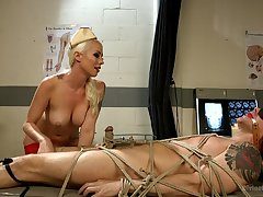 Kinky medical play and bondage roughly menacing Mistress Lorelei Lee