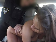 Sexy babe arse fucked by gung-ho officer then jizzed