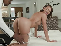 Big Daddy wife Emma Hix on her knees taking a massive deathly weasel words